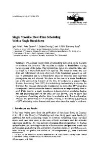 Single machine flow-time scheduling with a single breakdown
