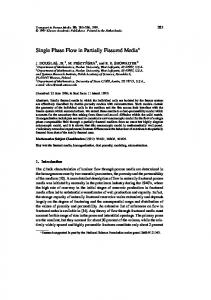 Single Phase Flow in Partially Fissured Media