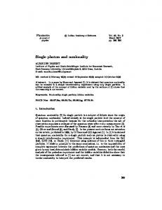 Single photon and nonlocality