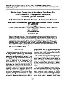 Single-stage conversion of associated petroleum gas and natural gas to syngas in combustion and auto-ignition processes