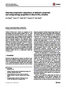 Sintering temperature dependence of dielectric properties and energy-storage properties in (Ba,Zr)TiO3 ceramics