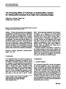 SiO2 Catalyst for Methanethiol Synthesis from High H2S-Containing Syngas