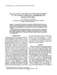 Six-electrode method for the measurement of the passive electrical properties of brain envelopes