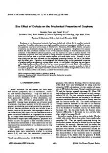 Size Effect of Defects on the Mechanical Properties of Graphene
