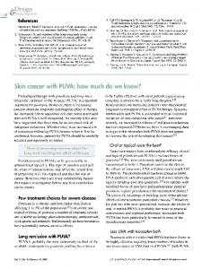Skin cancer with PUVA: how much do we know?