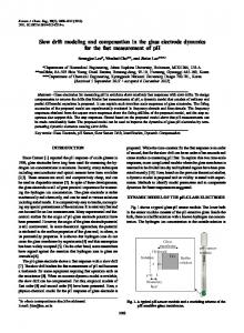 Slow drift modeling and compensation in the glass electrode dynamics for the fast measurement of pH