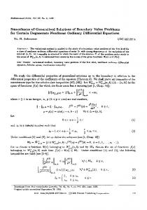 Smoothness of generalized solutions of boundary value problems for certain degenerate nonlinear ordinary differential equations