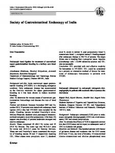 Society of Gastrointestinal Endoscopy of India