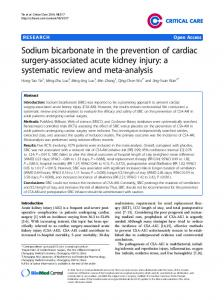 Sodium bicarbonate in the prevention of cardiac surgery-associated acute kidney injury: a systematic review and meta-analysis