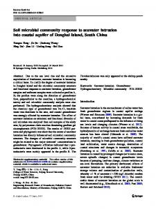 Soil microbial community response to seawater intrusion into coastal aquifer of Donghai Island, South China