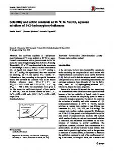 Solubility and acidic constants at 25°C in NaClO4 aqueous solutions of 1-(2-hydroxyphenyl)ethanone