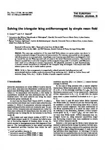 Solving the triangular Ising antiferromagnet by simple mean field