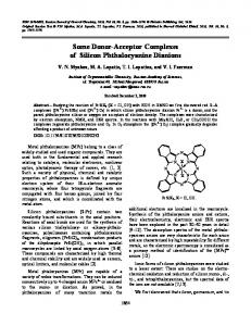 Some donor-acceptor complexes of silicon phthalocyanine dianions