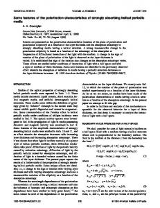 Some features of the polarization characteristics of strongly absorbing helical periodic media