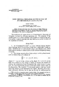 Some general theorems on the motion of incompressible viscous fluids