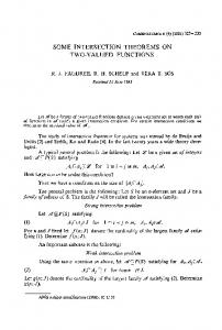 Some intersection theorems on two-valued functions