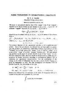 Some theorems in operational calculus