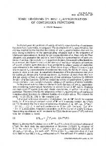 Some theorems on bestL1-approximation of continuous functions