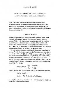 Some theorems on the expressive limitations of modal languages