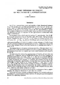 Some theorems on unicity of multivariateL1-approximation