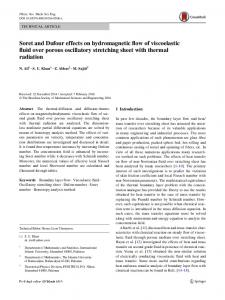 Soret and Dufour effects on hydromagnetic flow of viscoelastic fluid over porous oscillatory stretching sheet with thermal radiation