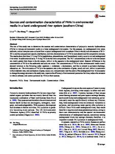 Sources and contamination characteristics of PAHs in environmental media in a karst underground river system (southern China)