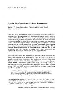 Spatial configurations: Erikson reexamined