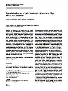 Spatial distribution of polychlorinated biphenyls in High Tatras lake sediments