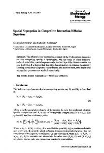 Spatial segregation in competitive interaction-diffusion equations