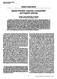 Spatial stimulus-response compatibility and negative priming