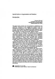 Special Section on Argumentation and Paradoxes. Introduction