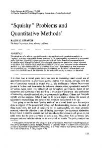 """Squishy"" problems and quantitative methods"