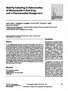 Stability-Indicating LC Determination of Nitazoxanide in Bulk Drug and in Pharmaceutical Dosage Form