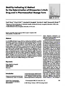 Stability-Indicating LC Method for the Determination of Olmesartan in Bulk Drug and in Pharmaceutical Dosage Form