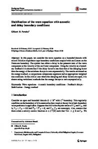 Stabilization of the wave equation with acoustic and delay boundary conditions