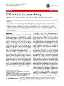 STAT inhibitors for cancer therapy