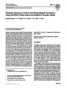Statistical Retrieval of Ozone and Meteorological Parameters Using SHADOZ Observations and Radiative Transfer Model