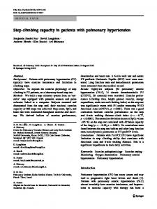 Step climbing capacity in patients with pulmonary hypertension