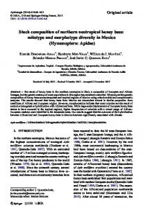 Stock composition of northern neotropical honey bees: mitotype and morphotype diversity in Mexico (Hymenoptera: Apidae)