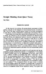 Straight thinking about queer theory