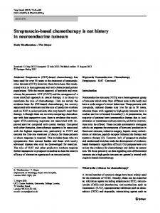 Streptozocin-based chemotherapy is not history in neuroendocrine tumours