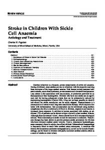 Stroke in Children With Sickle Cell Anaemia