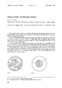Strong gravitation and elementary particles