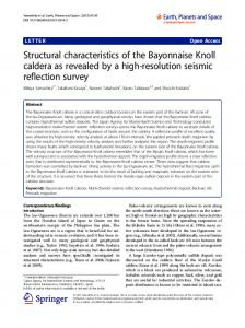 Structural characteristics of the Bayonnaise Knoll caldera as revealed by a high-resolution seismic reflection survey