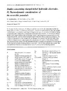 Studies concerning charged nickel hydroxide electrodes. II. Thermodynamic considerations of the reversible potentials