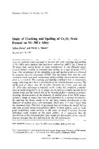 Study of cracking and spalling of Cr2O3 scale formed on Ni-30Cr alloy