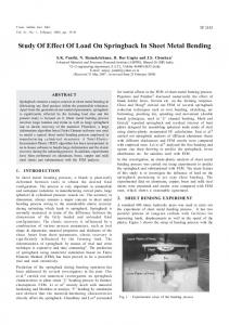 Study of effect of load on springback in sheet metal bending