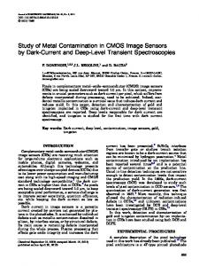 Study of Metal Contamination in CMOS Image Sensors by Dark-Current and Deep-Level Transient Spectroscopies