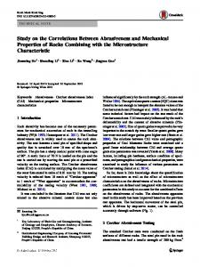 Study on the Correlations Between Abrasiveness and Mechanical Properties of Rocks Combining with the Microstructure Characteristic