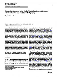 Submarine structures in the Gulf of İzmit, based on multichannel seismic reflection and multibeam bathymetry
